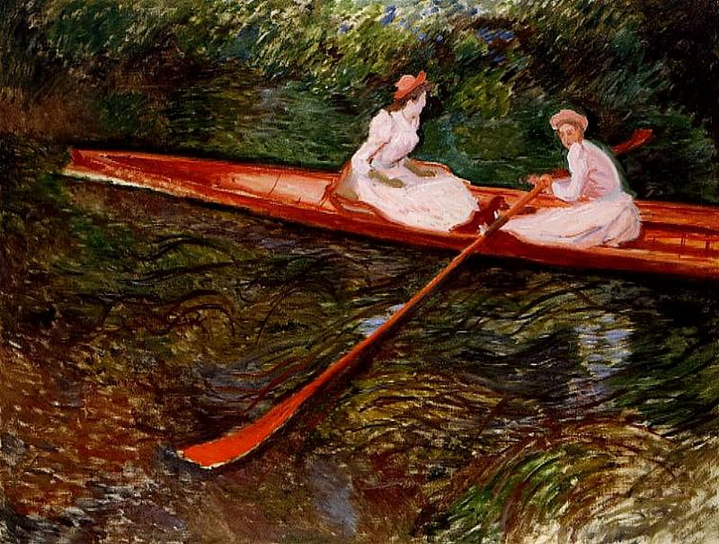 The Pink Skiff. Claude Oscar Monet
