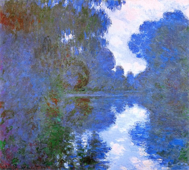 Morning on the Seine, Clear Weather 02. Claude Oscar Monet