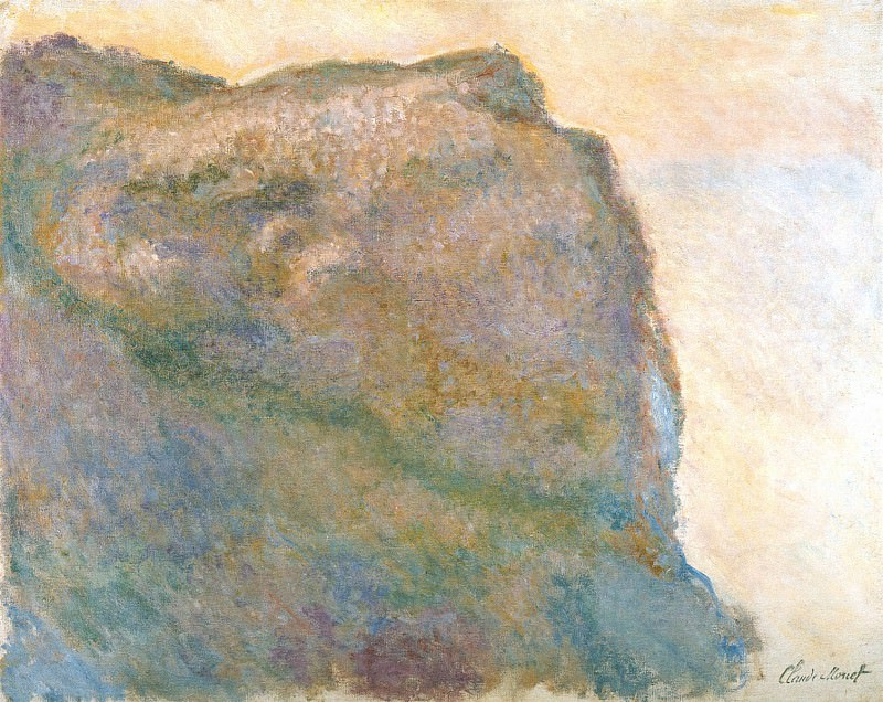 Cliff at Petit Ailly. Claude Oscar Monet
