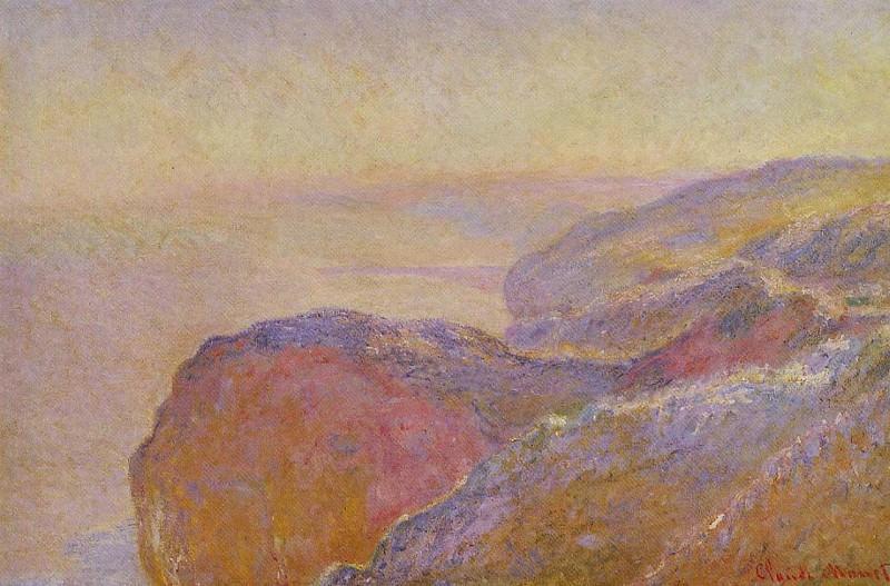 Cliff near Dieppe 2. Claude Oscar Monet