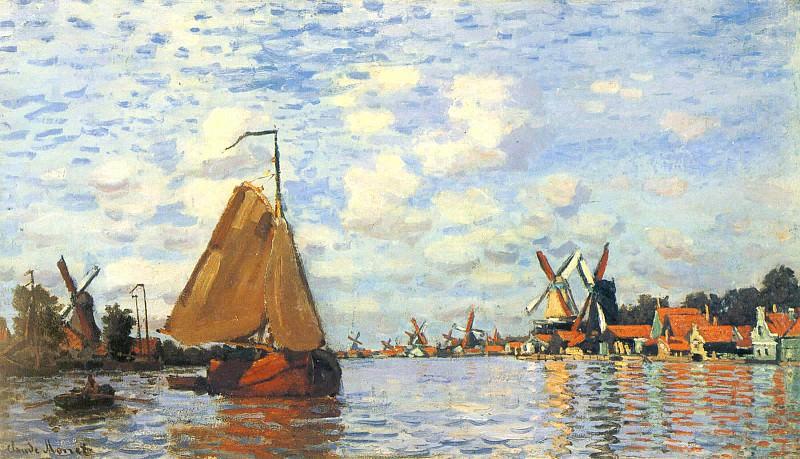 Zaan at Zaandam 02. Claude Oscar Monet