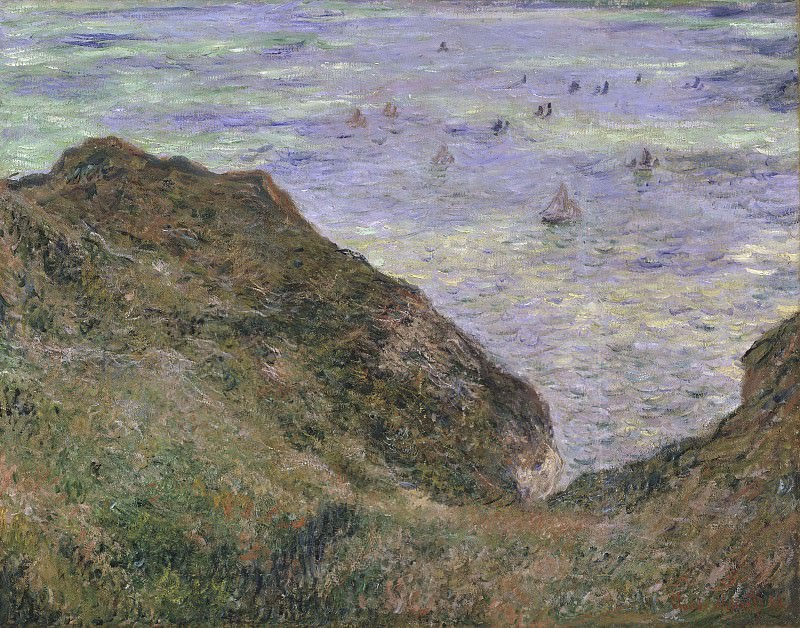 View over the Sea, Cliff of Pourville. Claude Oscar Monet