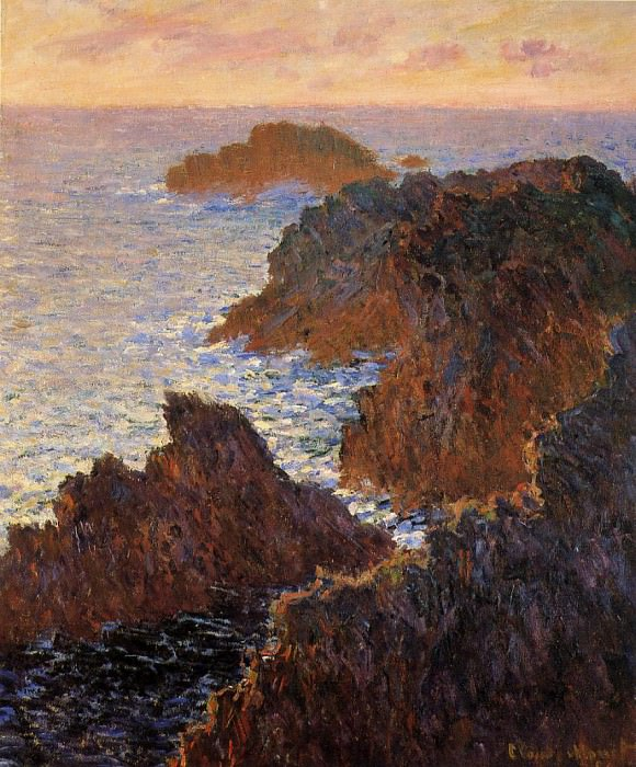 Rocks at Belle-Ile, Port-Domois. Claude Oscar Monet