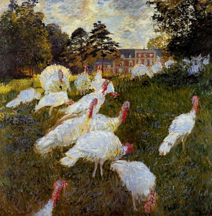 The Turkeys. Claude Oscar Monet