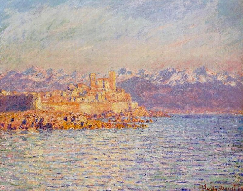 The Bay of Antibes. Клод Оскар Моне