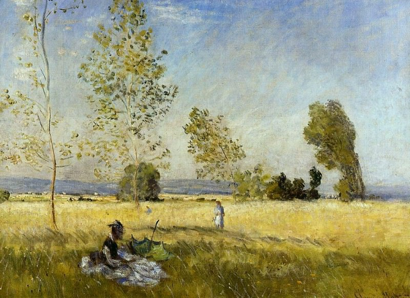 Meadow at Bezons. Claude Oscar Monet