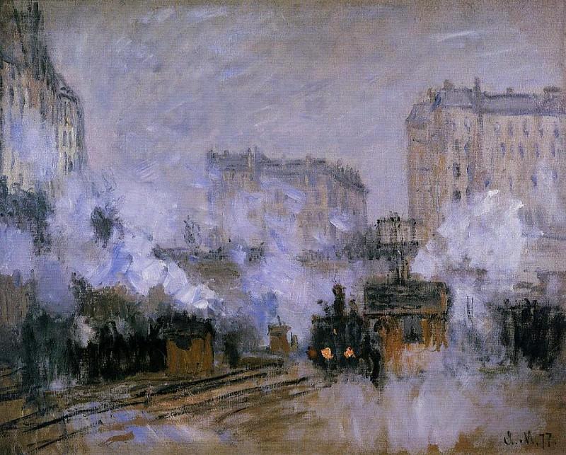 Saint-Lazare Station, Arrival of a Train. Claude Oscar Monet