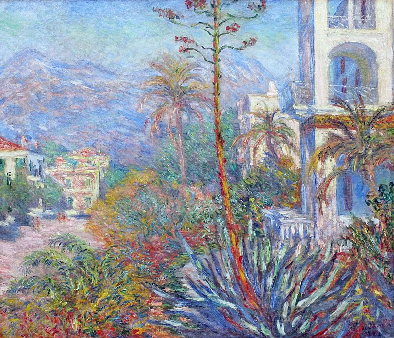 Villas at Bordighera 01. Claude Oscar Monet
