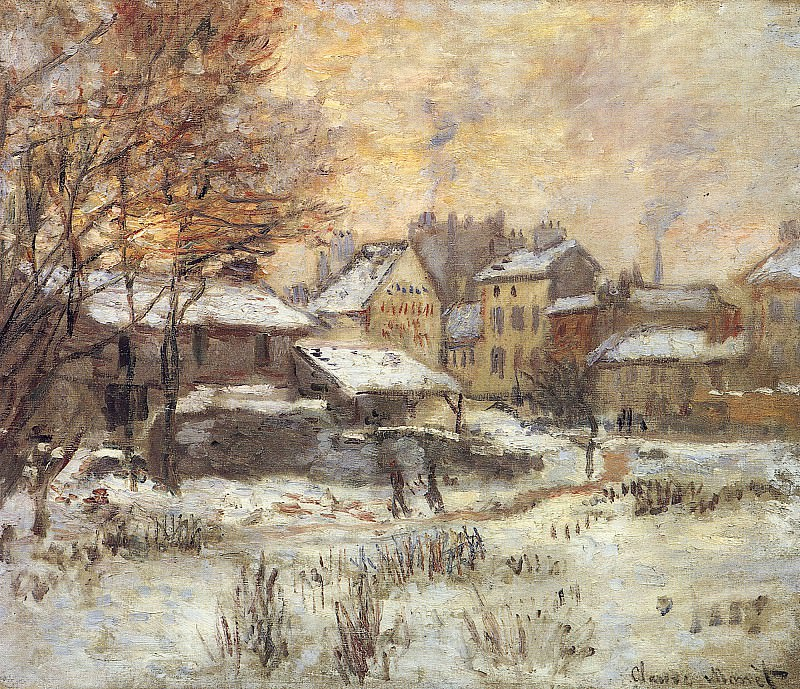Snow Effect With Setting Sun. Claude Oscar Monet