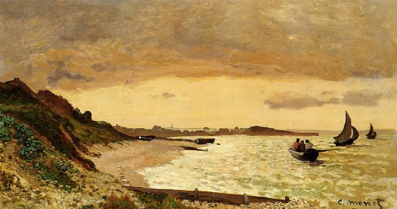 The Coast at Sainte-Adresse. Claude Oscar Monet