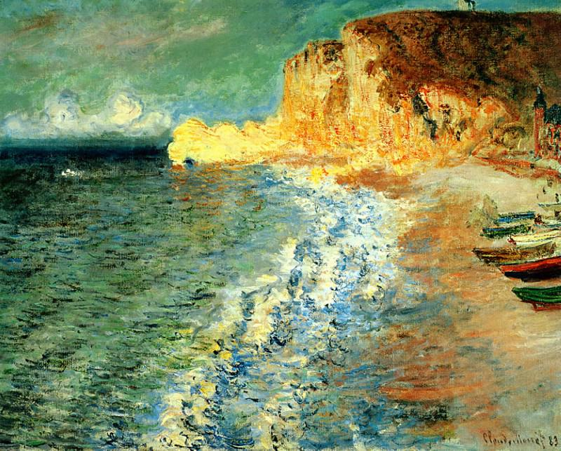 Morning at Etretat. Claude Oscar Monet