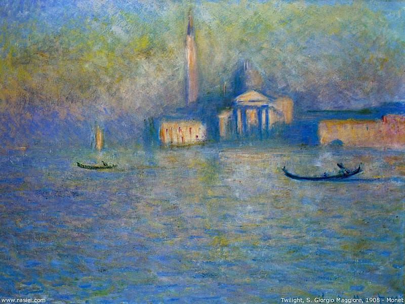 San Giorgio Maggiore, Twilight. Claude Oscar Monet