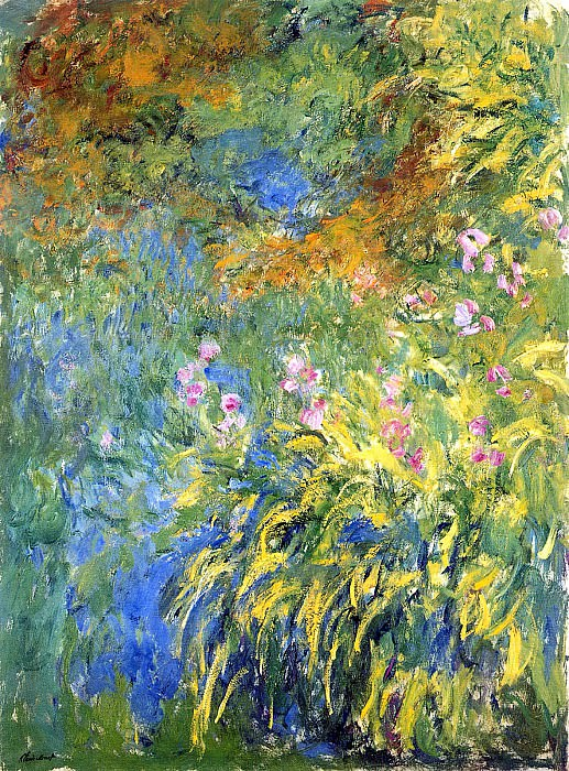 Irises 3. Claude Oscar Monet