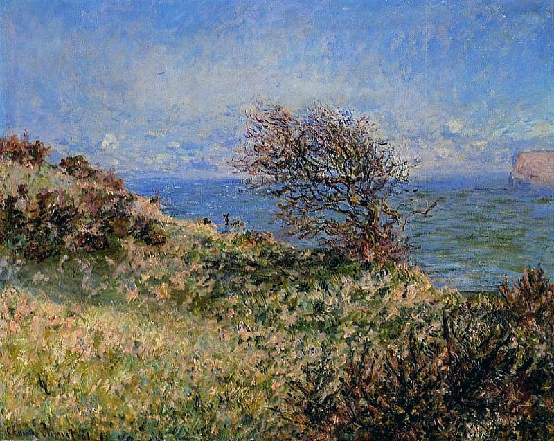 On the Cliff at Fecamp. Claude Oscar Monet