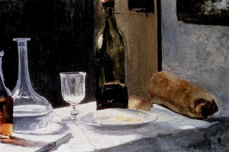 Still Life With Bottles. Claude Oscar Monet