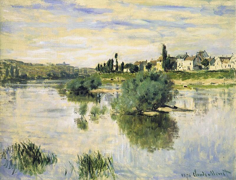 The Seine at Lavacourt. Claude Oscar Monet