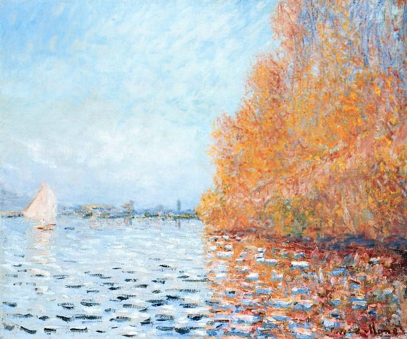 The Siene at Argentuil. Claude Oscar Monet