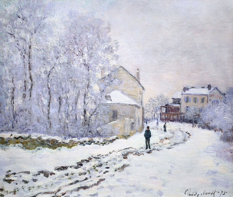 Snow in Argenteuil. Claude Oscar Monet