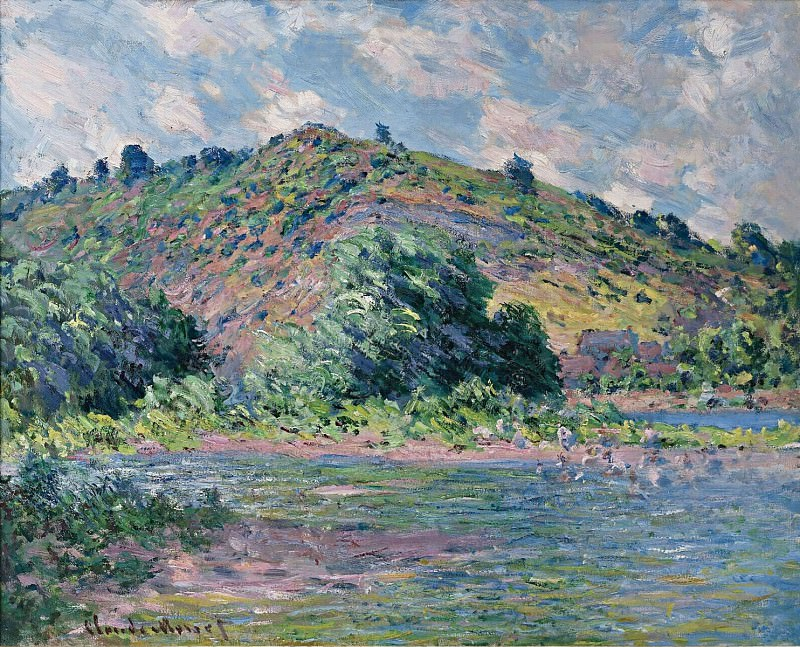 The Banks of the Seine at Port-Villez. Claude Oscar Monet