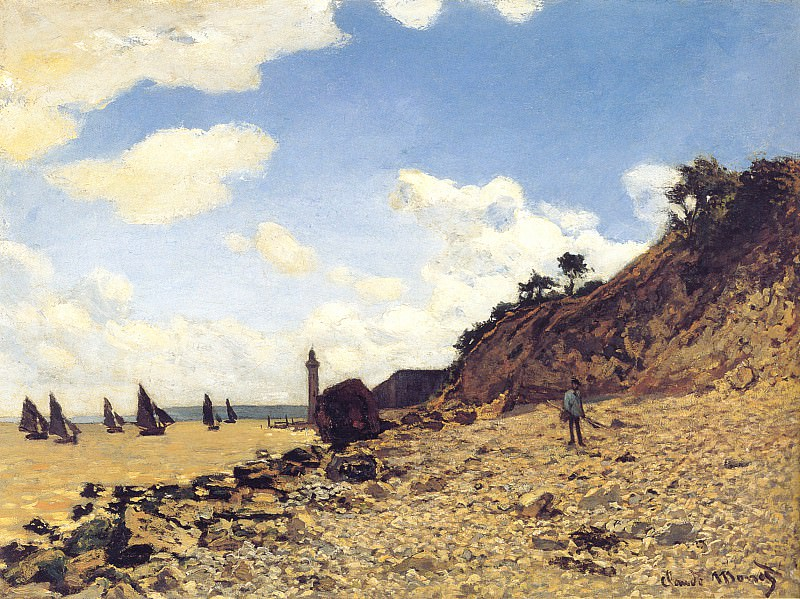 The Beach at Honfleux. Клод Оскар Моне