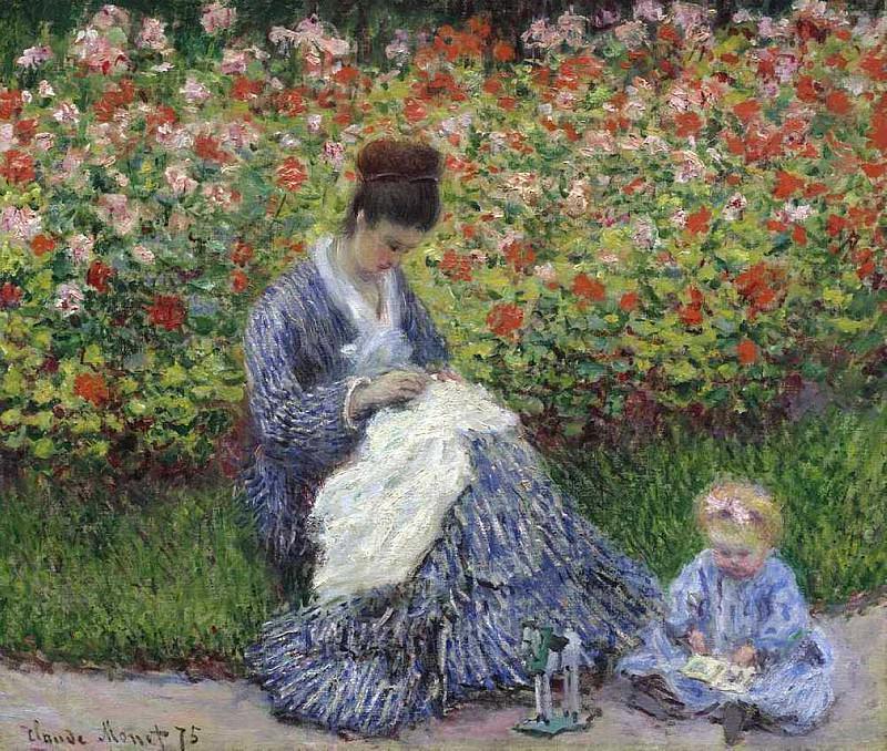Madame Monet and Child. Claude Oscar Monet