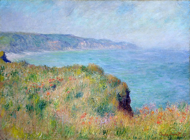 Cliff near Pourville. Claude Oscar Monet
