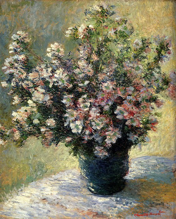 Vase of Malva Flowers. Claude Oscar Monet