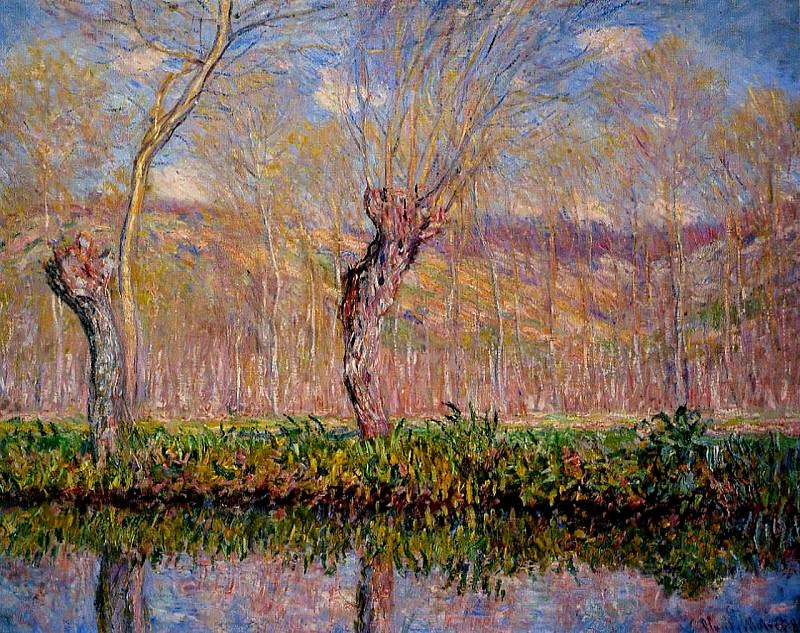 The Banks of the River Epte in Springtime. Claude Oscar Monet