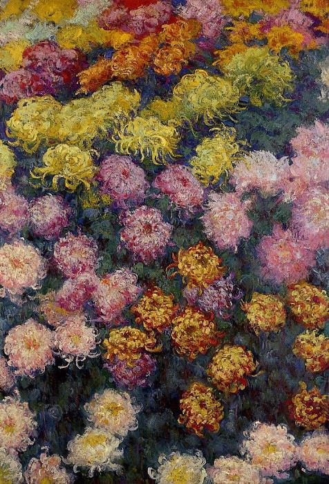 Bed of Chrysanthemums. Claude Oscar Monet