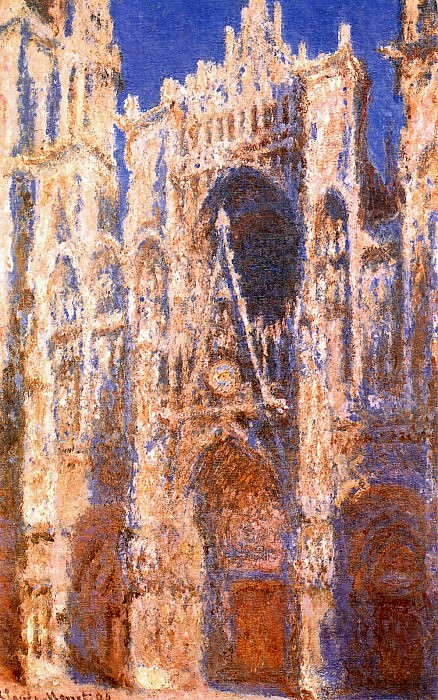 Rouen Cathedral, the Portal in the Sun. Клод Оскар Моне