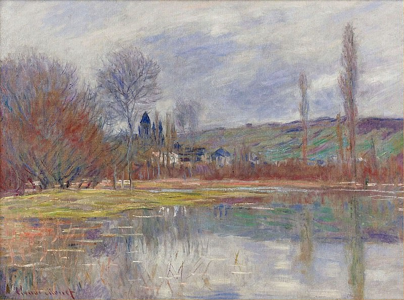 The Spring at Vetheuil. Клод Оскар Моне
