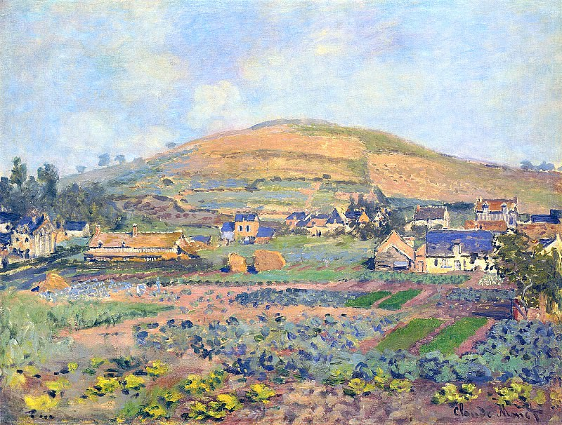 The Mount Riboudet in Rouen at Spring. Claude Oscar Monet