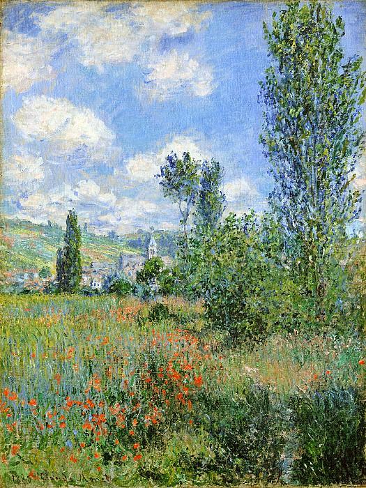 Lane in the Poppy Fields, Ile Saint-Martin. Claude Oscar Monet