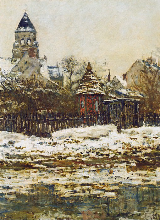 Vetheuil, The Church in Winter. Claude Oscar Monet