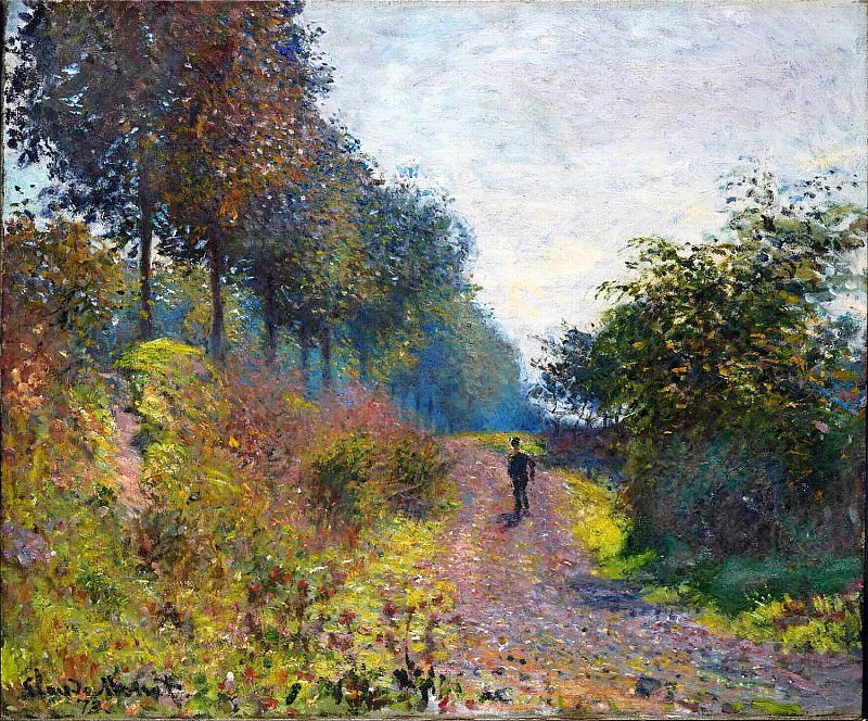 The Sheltered Path. Claude Oscar Monet