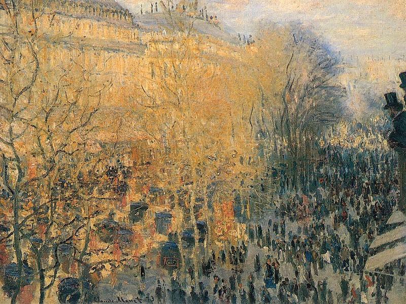Boulevard des Capuchines. Claude Oscar Monet