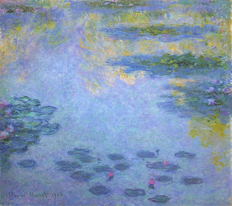 Water Lilies, 1906 04. Claude Oscar Monet