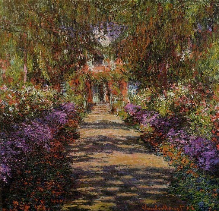 Pathway in Monet's Garden at Giverny. Claude Oscar Monet