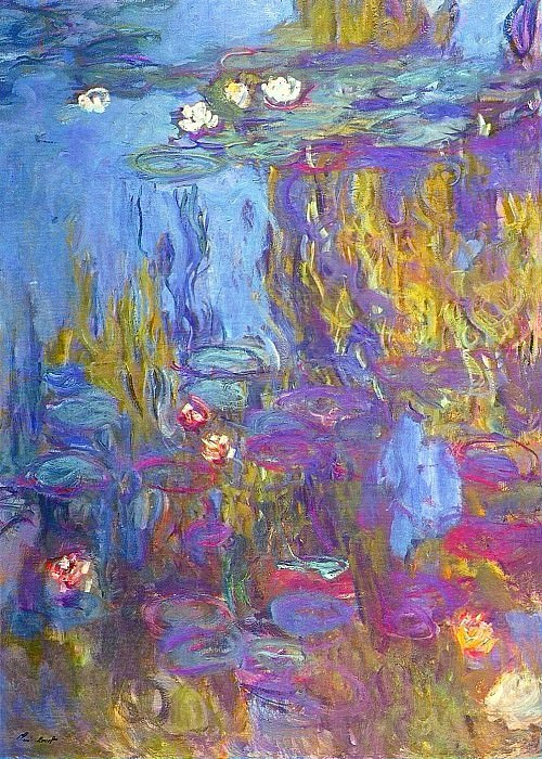 Water Lilies, 1914-17 03. Claude Oscar Monet