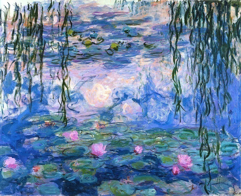 Water Lilies, 1916-19 02. Claude Oscar Monet