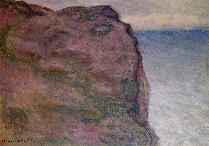 Cliff at Petit Ailly, at Varengeville. Claude Oscar Monet