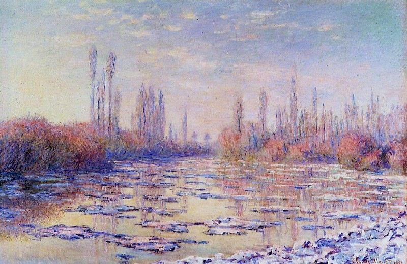 Floating Ice on the Seine. Claude Oscar Monet