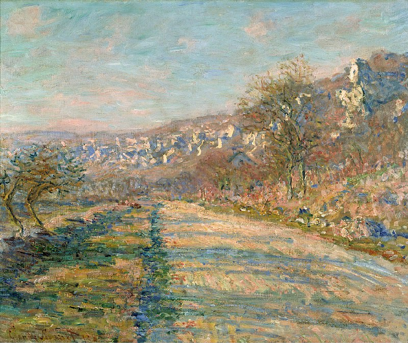 Road of La Roche-Guyon. Claude Oscar Monet