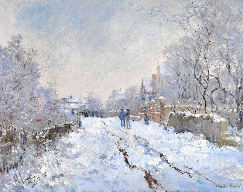 Snow Scene at Argenteuil. Claude Oscar Monet