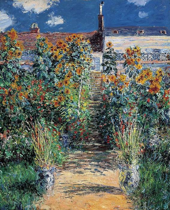 The Artist's Garden at Vetheuil. Claude Oscar Monet