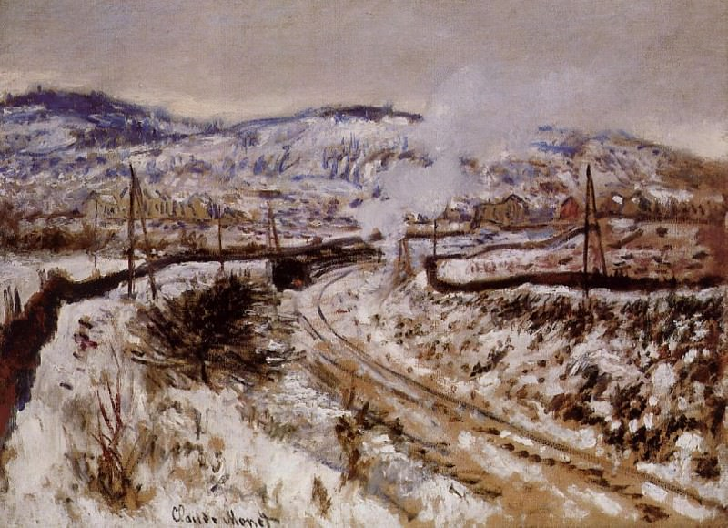 Train in the Snow, Argenteuil. Claude Oscar Monet