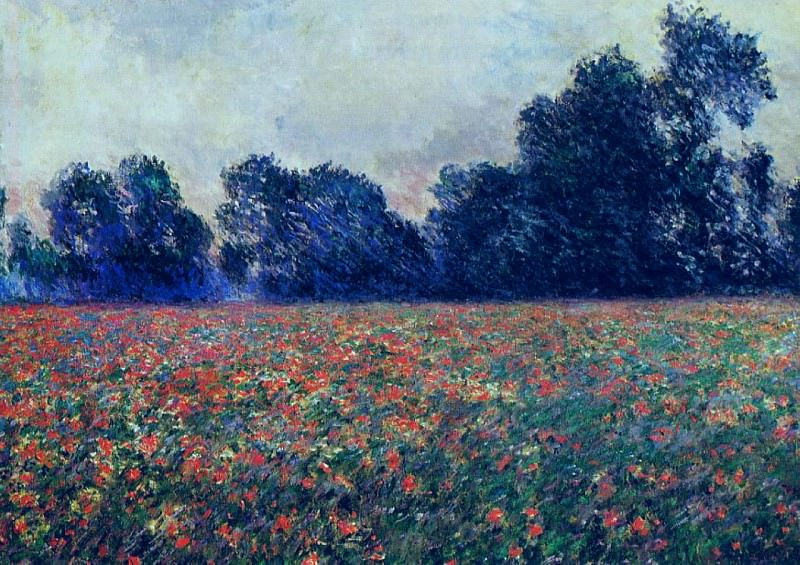 Poppies at Giverny. Claude Oscar Monet