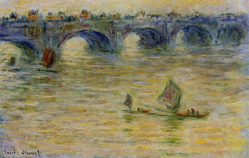 Waterloo Bridge 3. Claude Oscar Monet