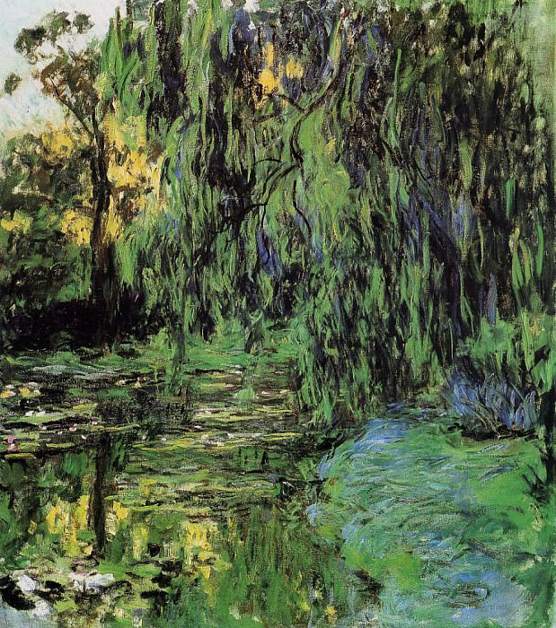 Weeping Willow and Water-Lily Pond. Claude Oscar Monet