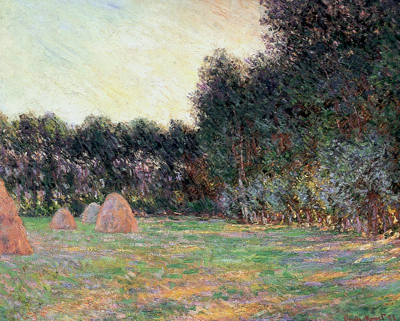 Meadow with Haystacks near Giverny. Claude Oscar Monet
